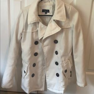 White dress coat